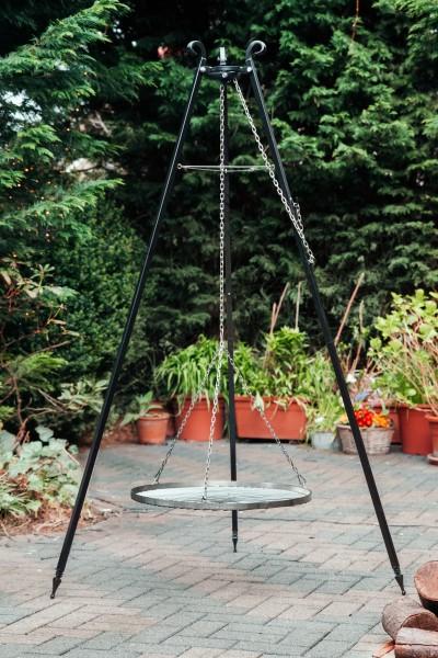 Finnwerk Schwenker im Garten, Edelstahlrost, Winkeleinstellung, perfekt für Terrasse