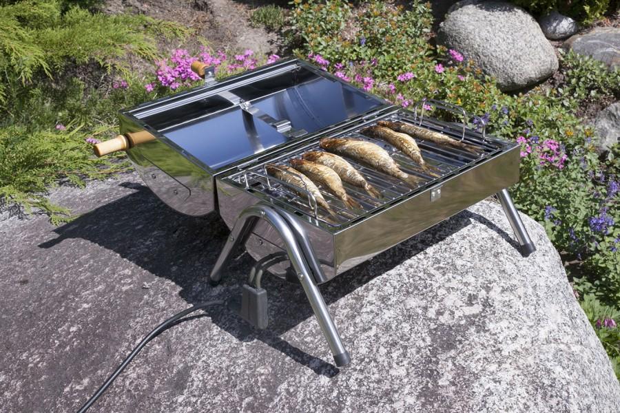 Fisch gesmolked vom Muurikka Elektro-Räucherofen und Kompaktgrill