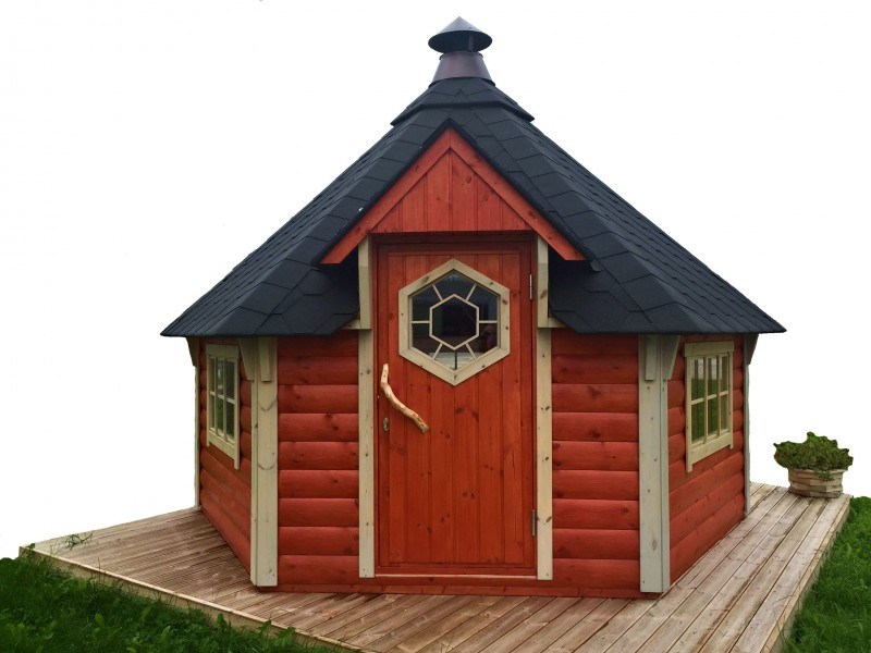 Freisteller der Grillkota 12 m² in roter Farbe