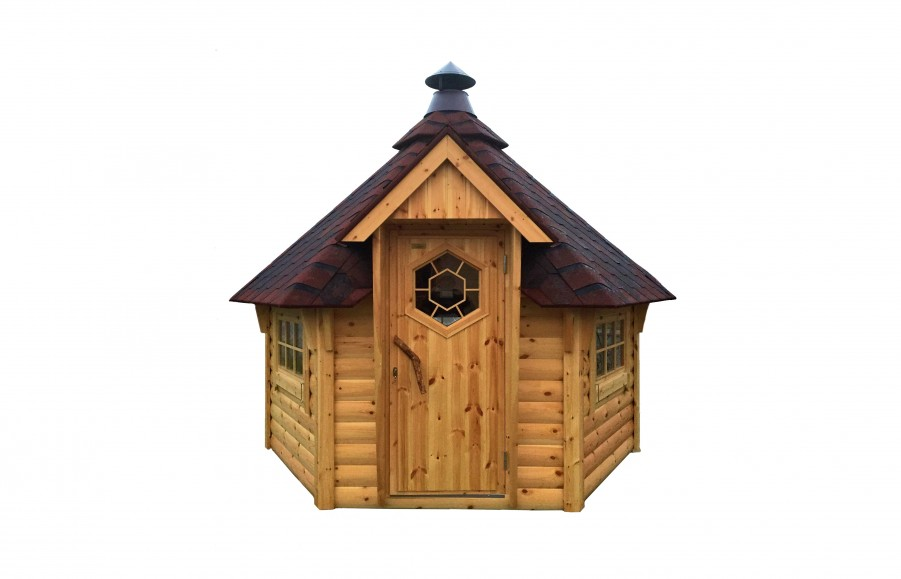 Freisteller der kleinsten Grillkota 4.9 m² in Naturton