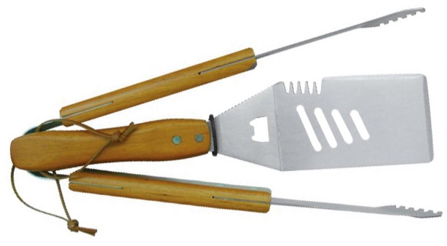 Grillbesteck-Set Holz