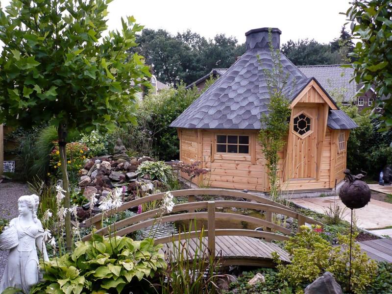 Grillkota 12 m² im idylischer Gartenatmosphäre