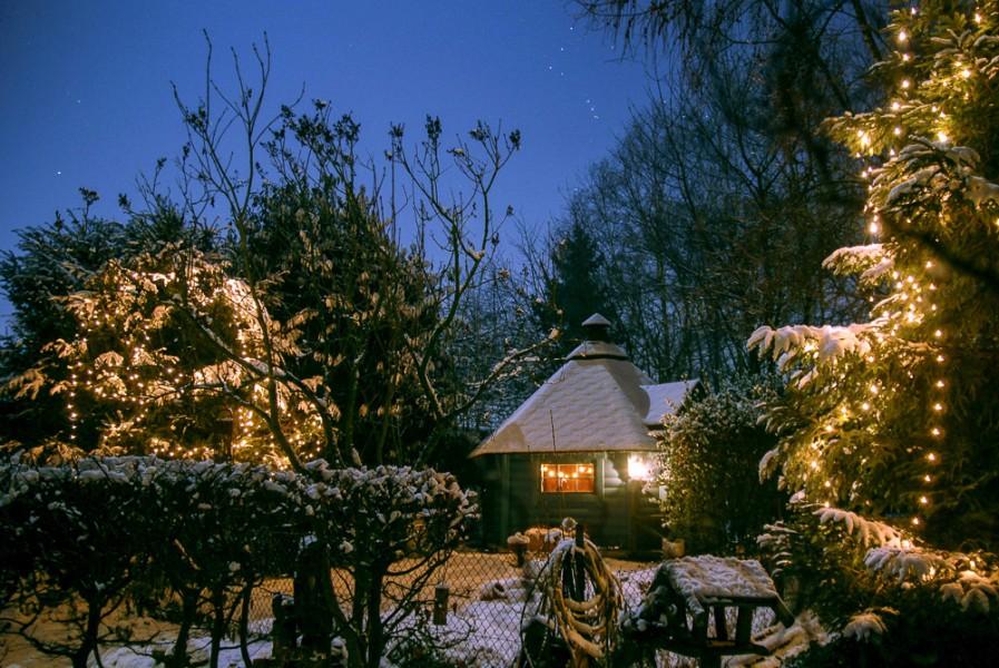 Ihre Grillkota in winterlichem Ambiente