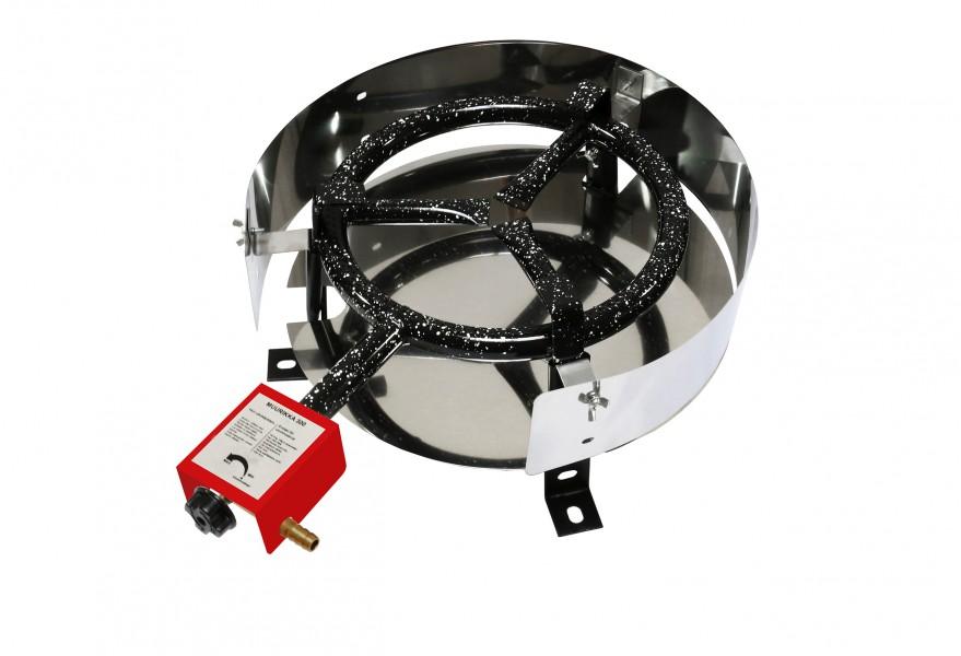 Murrikka-D300 Tisch Gas Ringbrenner für Feuerpfannen und Paella