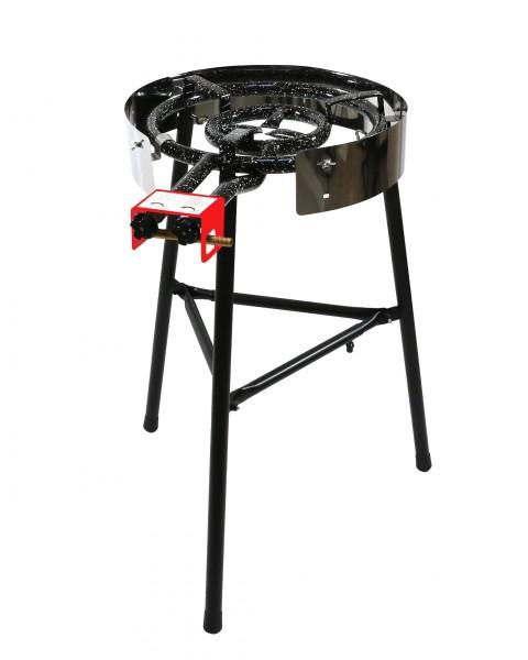 Muurikka D400 Gasringbrenner auf Beinen für Feuerpfanne Garten & Outdooreinsatz