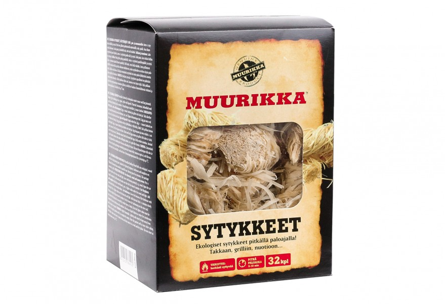 Muurikka Grill & Feueranzünder Röllchen - Holzrollen natur