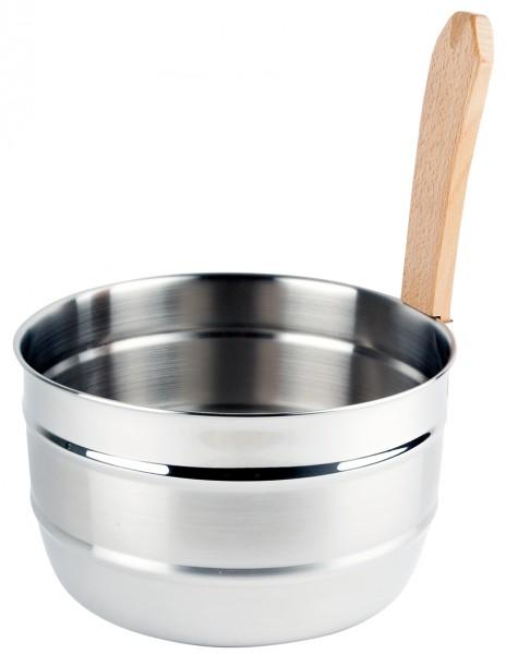Opa Lumo Saunaeimer Matt 5 Liter mit Holzgriff für die Gartensauna Freisteller