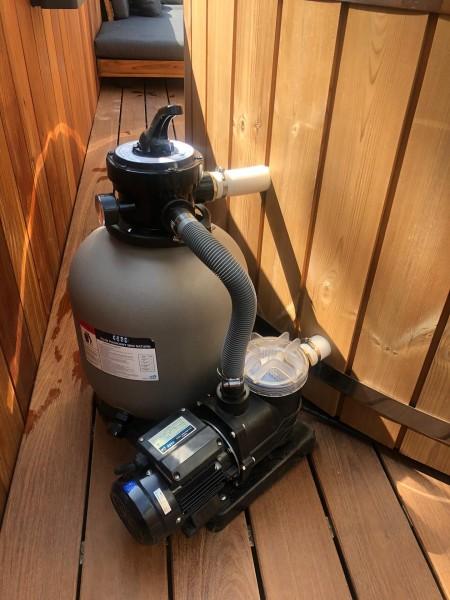 Sandfilter mit Pumpe des internen Filterkreislaufs