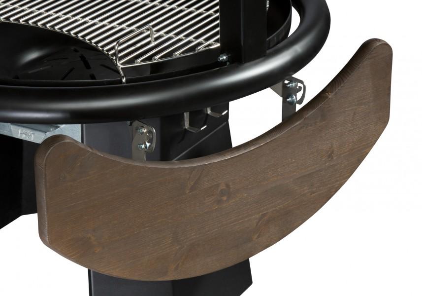 Seitentisch für Tundra Grill Apetivo, abgeklappt, Kiefer, Farbe Haselnuss Holzöl, braun lasiert