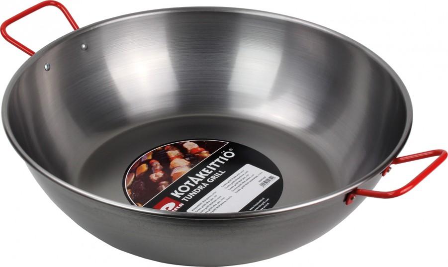 Wok Stahlpfanne für den Grill