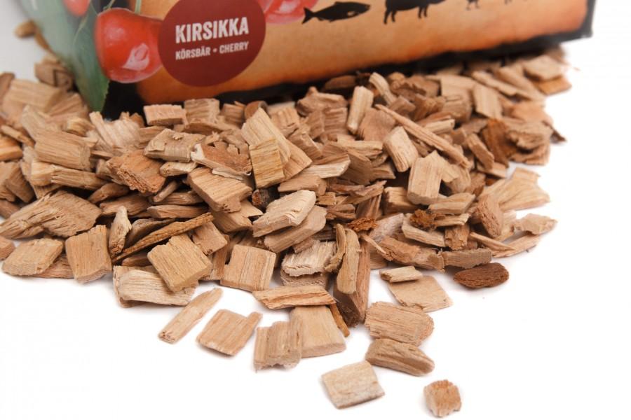 Woodchips Cherry von Muurikka - Fruchtbaum Chips für Räucheröfen 1-5cm
