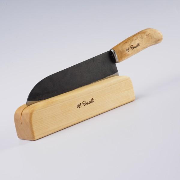 das japanische Küchenmesser R710 im Holzblock