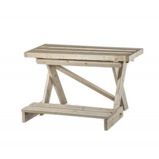 Holz-Sitzbank für die Zeltsauna