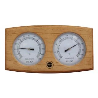 Opa Lumo Sauna-Thermo-Hygrometer Bogen Dunkel