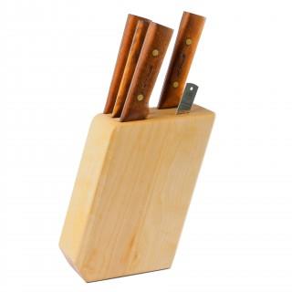 6-Teiliges Küchenmesser Set - die ganze ASTRID Serie von Roselli in einem Block aus Massivholz