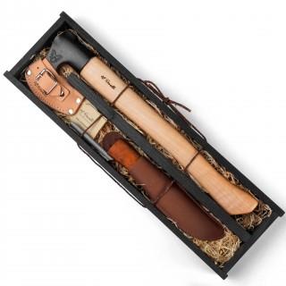 Geschenkset Axt mit langem Stiel + UHC Jagdmesser