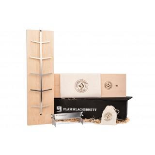Flammlachsbrett Geschenkbox BLACK