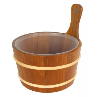 Opa Lumo Saunaeimer dunkles Holz 4 Liter