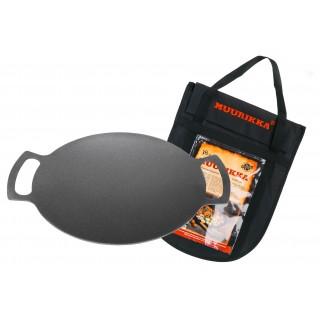 Muurikka 38 Eisenpfanne für Lagerfeuer mit Tragetasche