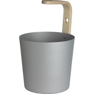 Saunaeimer aus Aluminium mit Birkensperrholzgriff 6,5 l Freisteller