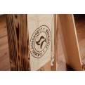 Finnwerk Flammlachsbrett stilvoll bedruckt auf Baumwollbeutel