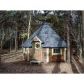 Grillkota 12 m² im Wald in der Farbe braun