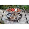 Schwenkgrill Grillrost und Feuerschale im Einsatz