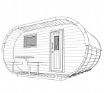 Fasssauna Oval Deluxe