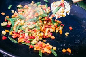 Zubereitung der Gemüsepfanne