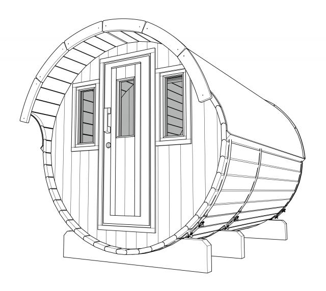 fasssauna choice bei finnwerk. Black Bedroom Furniture Sets. Home Design Ideas
