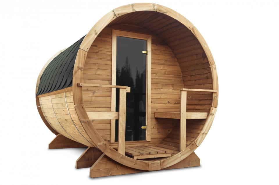 Das Saunafass aus Thermoholz aus Thermoholz