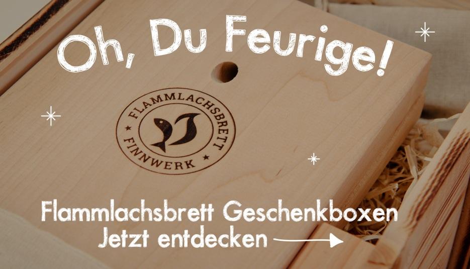 Finnwerk Flammlachsbretter in Geschenkbox